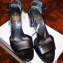 Costume National Designer Couture Italy Black Unique Plastic Strap Sandals Cs1 Photo