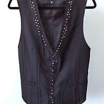 Costume National Italy Black Vest W/ Grommet Detailing Top 36/48 - S Photo