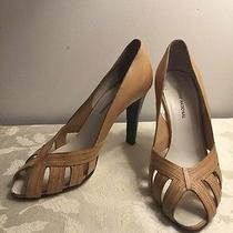 Costume National  Italy Leatherlight Tan Open Toe Heels Shoes 38.5 Photo