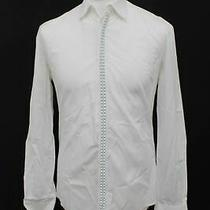 Costume National Men's White Long Sleeve Pure Cotton Shirt Size 39cm 15.5