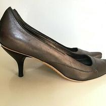 Costume National Pumps Shoes Women Sz 36 / 6 M Gunmetal Silver Leather Photo