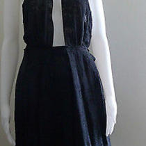 Costume National Silk Size 42 New Black Open Back Sexy Cocktail Summer Dress  Photo