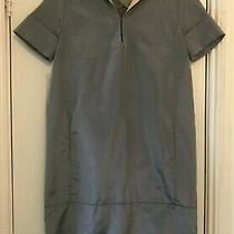 Costume National Silver Grey Silk Shift Dress - Size Small - Fits Uk 6 8 10 Photo