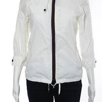 Costume National White Crew Neck Zip Front Blouse Top Size European 40 Photo