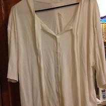 Cotton Aiko Flowy Women's Cotton Sweater - Cream Photo