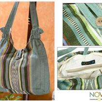 Cotton 'Aqua Lagoon' Shoulder Bag (Guatemala) Photo