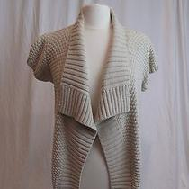 Cotton by Autumn Cashmere Chunky Textured Cotton Knit Cardigan Retail 209 Photo