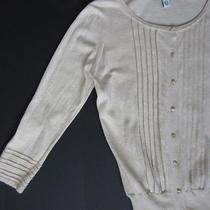 Cotton by Autumn Cashmere Pintuck Cardigan Xs Beige 100% Cotton Photo