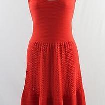 Cotton by Autumn Cashmere Red Cotton Knit Slvs Dress S Photo
