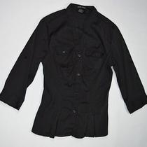 Cotton Express Casual Stretch Blouse Black Small Photo