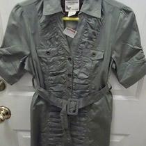 Cotton Express Size L Short Sleeve Blouse  100%  Cotton Green Photo