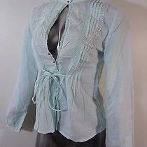 Cotton Express Women's Long Sleeve Summer Blouse Green S Photo
