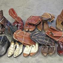 Cowboy Boots Craft Wedding or Restoration Lot Frye Dan Post Abilene Sanders Acme Photo
