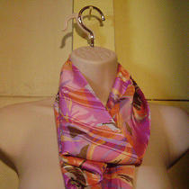 Cowl Neck Accessory Shoulder Wrap Dickie Scarf Colorful Pink Purple Orange  Photo