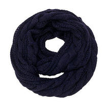 Cozy by Lulu - Fisherman's Cable Knit Infinity in Navy Photo