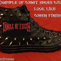 Cradle of Filth Metal Punk Custom Studded Converse Shirt Sneakers Shoes W Spikes Photo
