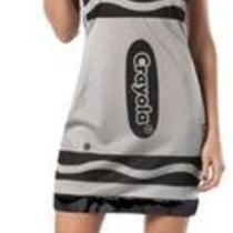 Crayola Black Crayon Ladies 4-10 Fancy Tank Dress Women Halloween Costume Hat Photo