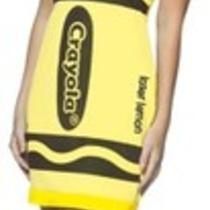 Crayola Laser Lemon Crayon Women 4-10 Fancy Tank Dress Halloween Costume Hat Photo