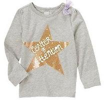 Crazy 8 Love to Shine Grey Star Center of Attention Tee Girls 2t Twins New Nwt Photo
