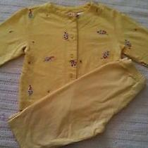 Crazy 8 Yellow Floral Girl Well Mannered Outfit Capris Top Size 5 Euc See Sister Photo
