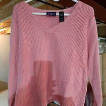 Crazy Horse (Liz Claiborne) Women's Pink v-Neck Pullover Sweater Size S Photo