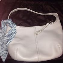 Cream Coach Leather Handbag Photo
