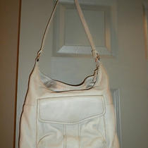 Cream Color Fossil Organizer Handbag Photo