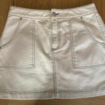 Cream Denim Skirt (Urban Outfitters) - Large Photo