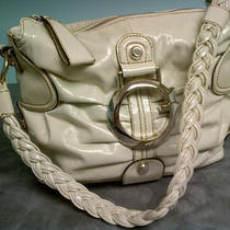Cream Guess Patent Handbag Photo