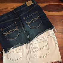 Creamy White Aeropostale & Denim Abercrombie & Fitch Jean Skirt Size 27 4 5/6 Photo