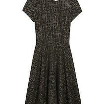Creative Commune Women's Stitch Fix Sz Xs Black/gold Geometric Skater Dress Photo