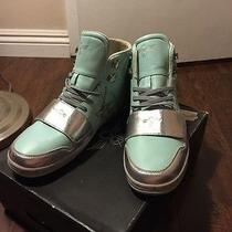 Creative Recreation Cesario  High Top Size 10 Us Tiffany Baby Blue Silver Bnib Photo