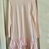 Crewcuts by J Crew Long Sleeve Mock Neck Cotton Dress Blush Pink Ruffle Trim S16 Photo