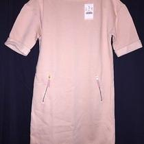 Crewcuts Dress 12 B5447 Sweatshirt Zipper Shift Shell Blush Pink Nwt Photo
