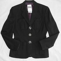Crisca by Escada Women's Black Blazer Business Jacket Toggle Top Sharp Eu38 Photo