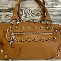 Cristian Studded Caramel Brown Italian Leather Western Chic Italy Hobo Handbag Photo