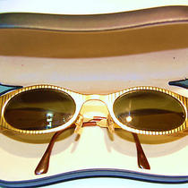 Cristina Colection Sun Glasses Deluxe With Fancy G/p Gold Frames Beauitful Case  Photo