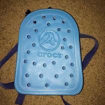 Croc Backpack Blue Unisex Photo