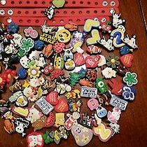 Croc Charms for Shoes Purses and Bracelets - Lot of 3 Bracelets and 103 Charms Photo