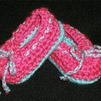 Crochet Baby Girl Booties / Ballet Shoes 3.5