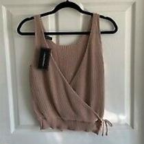Crochet Low Cut Tank Top Blush Color Size M. New With Tags. Photo