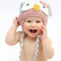 Crochet Rose Pink N Aqua Owl Hat  Sizes Newborn to 10 Yrs  Cute Photo Prop Photo