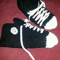 Crocheted Converse Type Slippers Photo
