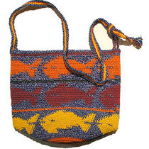 Crocheted Fish Hobo Handbag Purse Color Multi Colored Photo