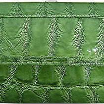 Crocodile Like Designer New Wallet Women Beautiful Money Purse Lime Id Slim Croc Photo