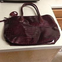 Crocodile Style Bag - Burgandy Photo