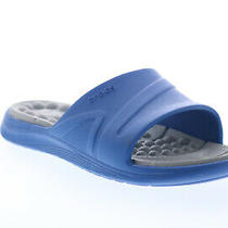 Crocs 22 Boys Blue Slip on Slides Sandals Shoes 5 Photo