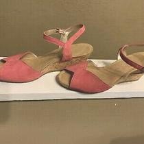 Crocs a-Leigh Sandal Cork Wedge Pink Pre-Owned Sz 6.5 Excellent Condition Photo