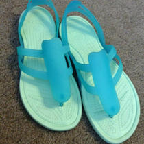 Crocs Adrina Strappy Sandal Aqua Size 6 Photo