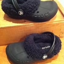 Crocs Black Crocband Slip on Casual Water Athletic Fleece Shoes Size 10-11 C Photo
